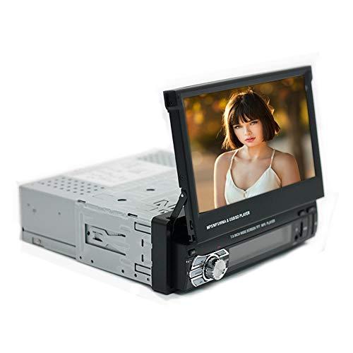 JANEFLY Bluetooth Car Radio GPS Stereo, Autoradio met 7 inch MP5-speler, ondersteunt handsfree gesprekken, intrekbaar aanraakscherm, afstandsbediening