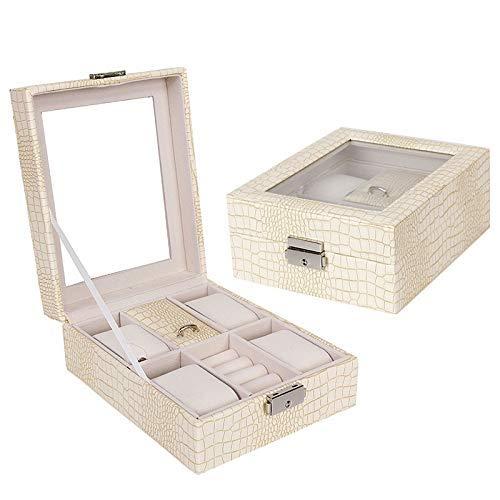 AJH Vier enkellaags multifunctionele horloge-opbergdoos Sieradendoos Japanse voortreffelijke mode-horlogebox