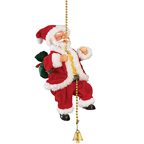 Collections Etc Animated Musical Climbing Santa on Chain