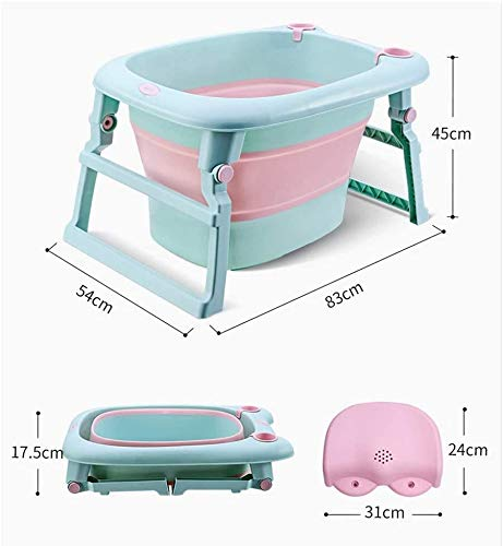 KIDZ & BELLZ New Bath Baby,Featuring Our 3 in 1 Foldable Portable Free Standing Baby Bath tub for Newborn, Toddler and Infants.