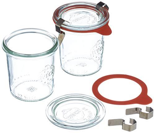Weck luftdicht Clip-Close versiegelt 140ml Tiegel mit Deckel 60mm, 12Stück, Glas, transparent