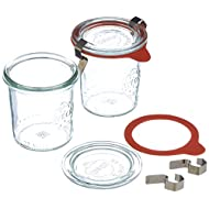 Weck Airtight Clip-Close Sealed 140 ml Jar with Lid 60 mm, Pack of 12, Glass, Transparent