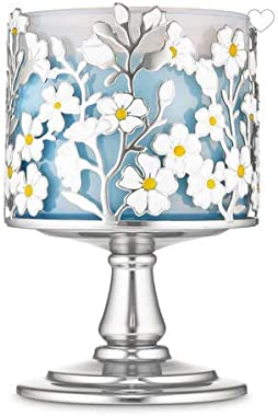 White Barn Bath and Body Works Wild Flower Pedestal 3-Wick Candle Holder