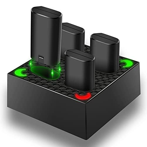TechKen Chargeur pour Xbox One avec 4 Batteries...