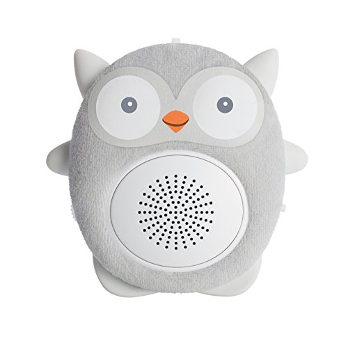 WavHello SoundBub, White Noise Sound Machine and Bluetooth Speaker | Portable & Rechargeable Crib/Stroller/Car Seat Travel Baby Sleep Soother – Ollie The Owl, Grey