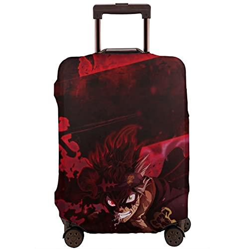 Anime Black Clover Koffer-Schutzhülle, waschbar, 3D-Druck, 4 Größen für die meisten Gepäck, Schutztasche mit Reißverschluss