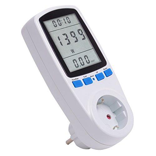 Gardigo Tevigo Energiekosten-Messgerät, Stromtarif frei einstellbar, Stromverbrauch, aufspüren von Stromfressern I Deutscher Hersteller
