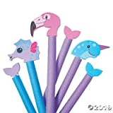 Fun Express Water Creature Pool Noodle Accessories and Attachments (Sea Horse, Flamingo and Narwhal - Summer Pool Toys
