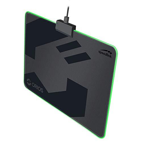 Speedlink ORIOS LED Gaming Mousepad - Gaming-Mauspad mit LED-beleuchtetem Rand - schwarz