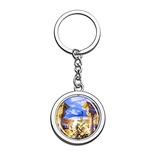 America Usa Caesars Palace Las Vegas Keychain Key Chain Souvenir Spin Crystal Metal Stainless Steel Chain City Travel Gift