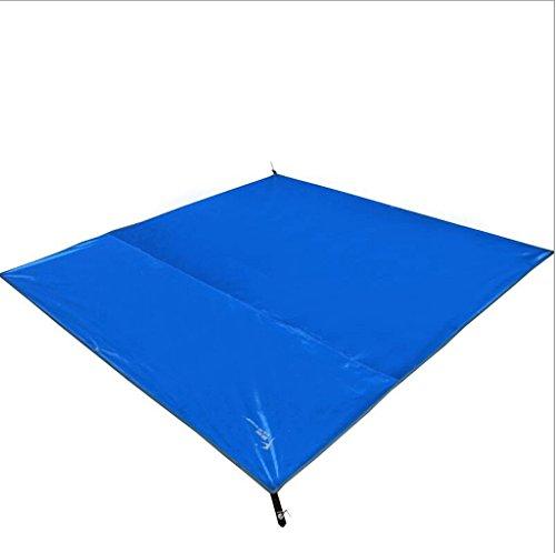 Etanche Mat Thickening Outdoor Élargir Single Double Moisture Pad Tentes Mat Tissu Oxford Mat Pique-Nique (Couleur : Bleu)