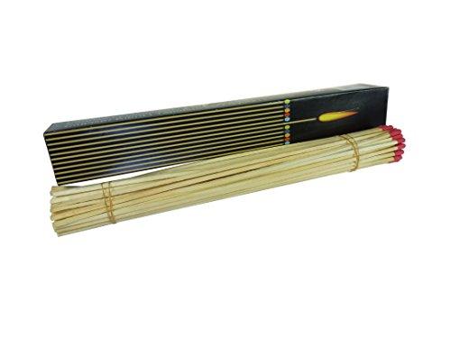 diverse 2 x 50 Stück (=100) XXL Maxi Grill und Kamin Streichhölzer, 28 cm, rote Köpfe, Grillstreichhölzer Kaminstreichhölzer, Jumbostreichhölzer