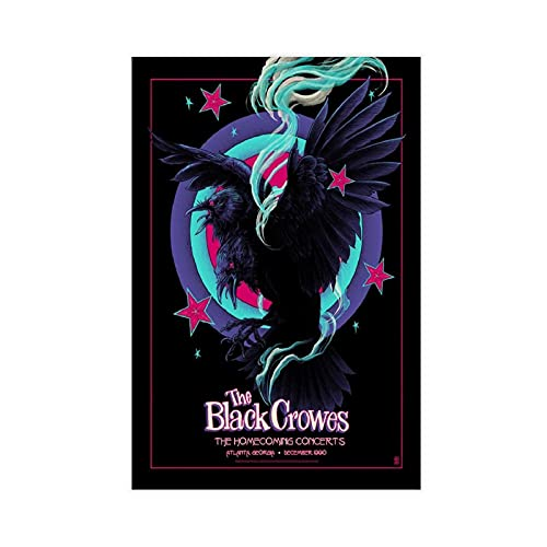 Póster de lienzo de conciertos de rock Band The Black Crowes Homecomi