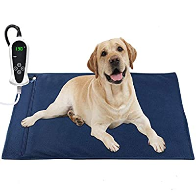 """Pet Heating Pad, Electric Heating Pad for Dogs and Cats Indoor Warming Mat with Auto Power Off (X-Large: 32"""" x 20"""")"""