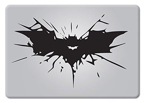 "Batman Cracked Bat Symbol Dark Knight Rises for MacBook Laptop Car Die-Cut Vinyl Decal Sticker (13"" MacBook with Backlit Apple Logo)"