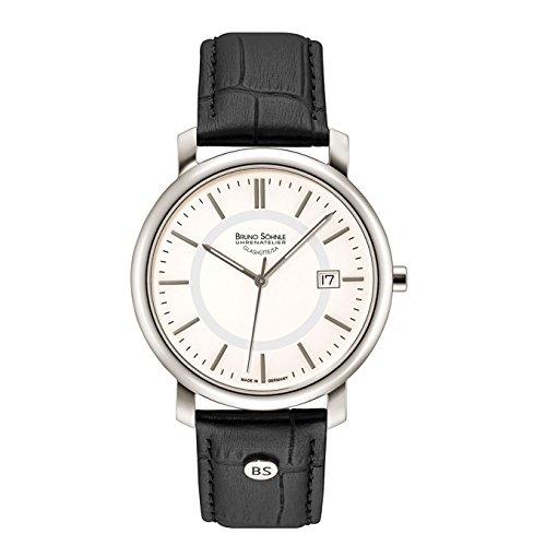 Bruno Söhnle Herren Analog Quarz Uhr mit Leder Armband 17-13142-241