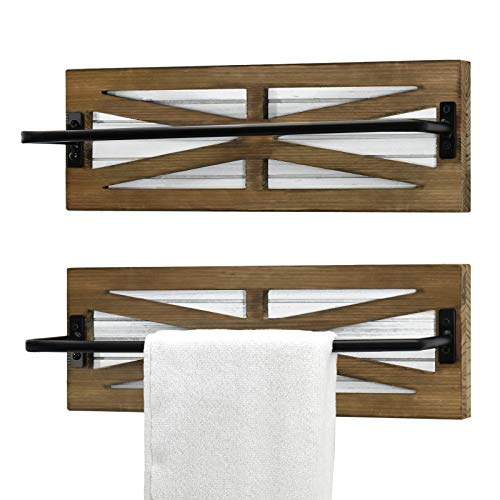 2PCS Farmhouse Towel Storage Rack for Bathroom