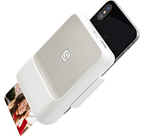 LIFEPRINT Instant Printer - Sofortdrucker, Bluetooth-Drucker, verwandelt Ihr Smartphone in Sofortbildkamera-, Apple- und Android-Kompatibilität - Weiß