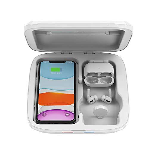 Uv Sanitizer Box, 3 in 1 beweglichen uv Desinfektions-Box mit für Mobiltelefone Aufladen, Uhren, Kopfhörer, Schmuck, Unterwäsche, Etc.