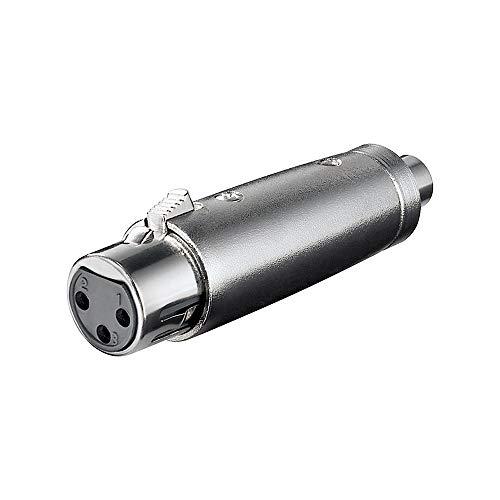 XLR Adapter 3-polig XLR Kupplung auf Cinch Kupplung