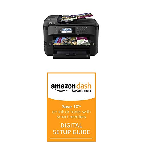 Best Buy! Epson Workforce WF-7720 Wireless Wide-Format Color Inkjet Printer with Dash Replenishment ...