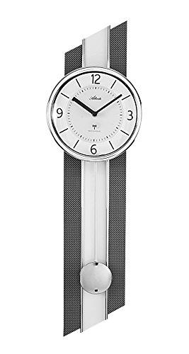 Atlanta 5102/19 Horloge Murale, Métal, Weiß, 69 x 20 x 5 cm