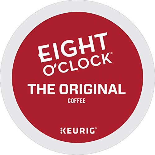 Eight O Clock, The Original, Single-Serve Keurig K-Cup Pods, Medium Roast Coffee, 72 Count (3 Boxes of 24 Pods)