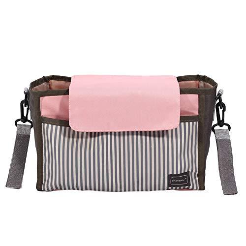 Babyluiertas, multifunctionele nylon reistas met grote capaciteit, luiertassen, stijlvolle wikkeltas, organizer roze