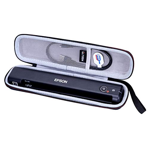 LTGEM Hartschalentasche für Epson Workforce ES-50 / ES-55R / ES-60W / ES-65WR / DS-30 / DS-70 / DS-80W Portable Sheet-Fed Document Scanner