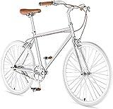 Estudiante Adulto Conmuting Bicicleta de Montaña 24 Pulgadas Rueda 7 Velocidad Ligero Carretera Bicicletas Hombres Mujeres Acero Carbono Marco Ride-7 Velocidad Plata