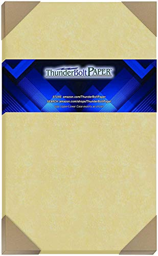 50 Gold Parchment 65lb Cover Weight Paper 8.5 X 14 Inches Cardstock Colored Sheets Legal Size -Printable Old Parchment Semblance