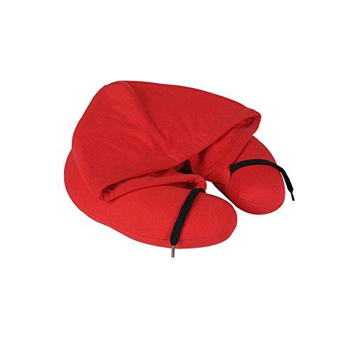 Dall Coussins lombaires Confortable Et Doux Oreiller Siesta Oreiller De Voyage Oreiller en Forme De U Coussin De Cou Oreiller Mémoire Oreiller De Chapeau (Couleur : Red)