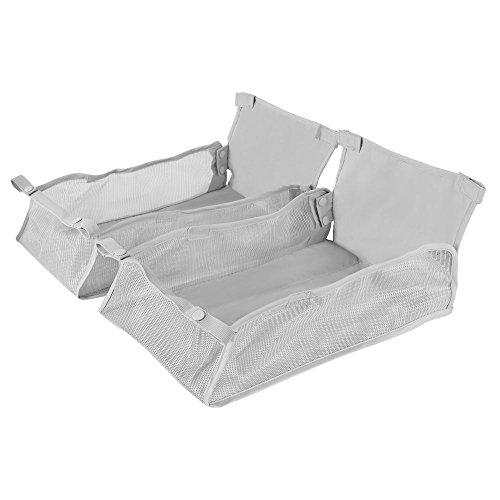 Maclaren Cesta de compras Twin Techno, una canasta plegable reemplazable que se ajusta de forma segura en la base de los buggies Twin Techno, plata