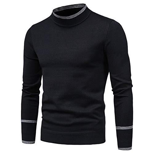 WLZQ Herbst- Und Winter-Herrenpullover Herrenpullover Langarmpullover Schlanke T-Shirts Herren-Strick-t-Shirts
