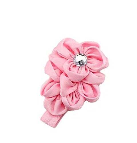 Demarkt Fashionable Ribbon Baby Child Head Haarband (rosa)