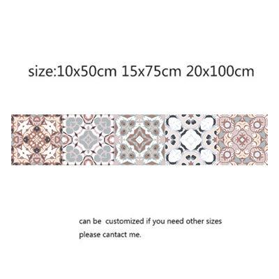 Decoración para el hogar estilo árabe mosaico, pegatinas para sala de estar, cocina, 3D, impermeable, decoración de baño, papel pintado adhesivo (color: 2, tamaño: 10 x 50 cm)