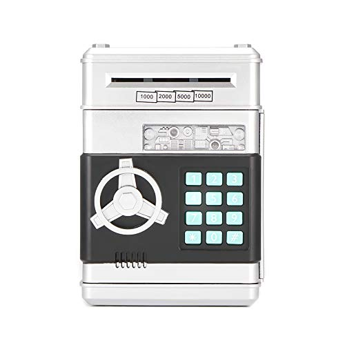 A0ZBZ Hucha electrónica Banco de Dinero con contraseña para Efectivo Monedas cajeros automáticos Mini Bancos de Monedas Hucha para niños...