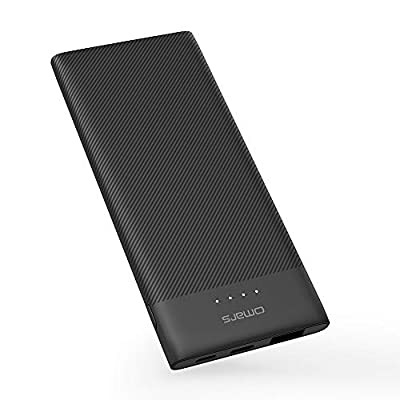 Omars Power Bank 10000mAh Portable charger Ultra Slim Powerbank with USB C & 2 USB A Output Battery Pack for iPhone X Huawei P30