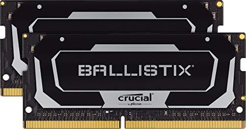 Crucial Ballistix BL2K8G26C16S4B 2666 MHz, DDR4, DRAM, Laptop Gaming Memory Kit, 16 GB (8GB x2), CL16
