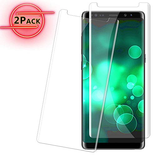 Note 8 Screen Protector for Galaxy Note 8 Friendly Case Anti-Bubble 9H Hardness Anti-Scratch 2-Pack Clear