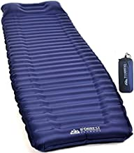 IFORREST Camping Sleeping Pad w/Armrest & Pillow - 4 Inch Ultra-Thick Side Sleep Friendly - Rollover Protection - Ultralight Backpacking Air Mattress