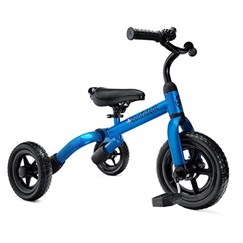 YGJT Triciclo Bebe Bicicleta para Niño 2-4 Años hasta 25Kg, 3 en 1 Triciclos Bebes con Pedales, Correpasillos de Equilibrio Infantil 18-48 Meses, Perfectos Regalos Originales para Cumpleaños, Azul