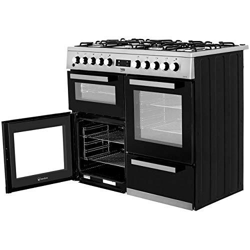 Beko KDVF100K A Rated 100cm Dual Fuel Range Cooker in Black 7 Hotplate Burners