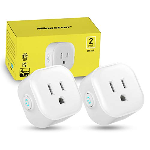Z-Wave Outlet Mini Plug-in Socket, Z-Wave Hub Required, Built-in Repeater/Range Extender, Work with SmartThings, Wink, Alexa, Google Assistant, FCC & ETL Listed(MP21Z)
