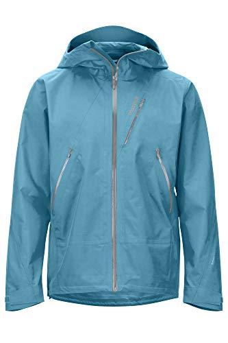 Marmot Herren Knife Edge Jacket, Wasserdichte GORE-TEX Regenjacke, atmungsaktiver Regenmantel mit Kapuze, leichter Hardshell Windbreaker zum Wandern und Fahrradfahren, Enamel Blue, M