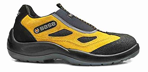 Base Protection, FOUR HOLES Calzado de Seguridad para Hombres y Mujeres, Negro y Amarillo, Talla 43