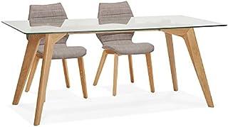 Alterego Table de Salle à Manger Design 'Salto' en Verre - 180x90 cm