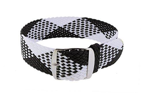 Minott Cinturino Regolabile | ricambio nastro bianco e nero intrecciato |...