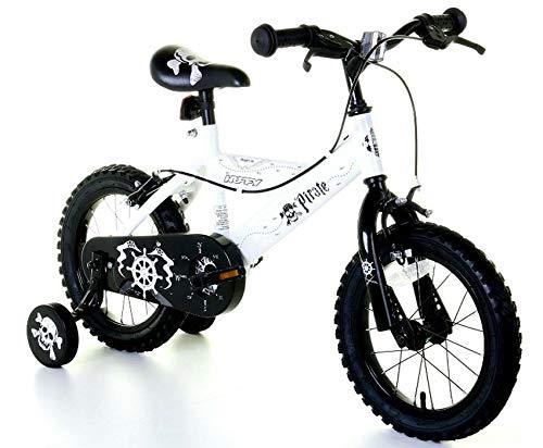 Huffy Bicicleta BMX Pirate de 14 Pulgadas para niños, Color Blanco, Bicicleta expuesta como Nueva