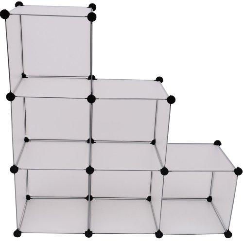 Outsunny - Scaffale/Armadio in plastica - 112x112x37cm - Bianco